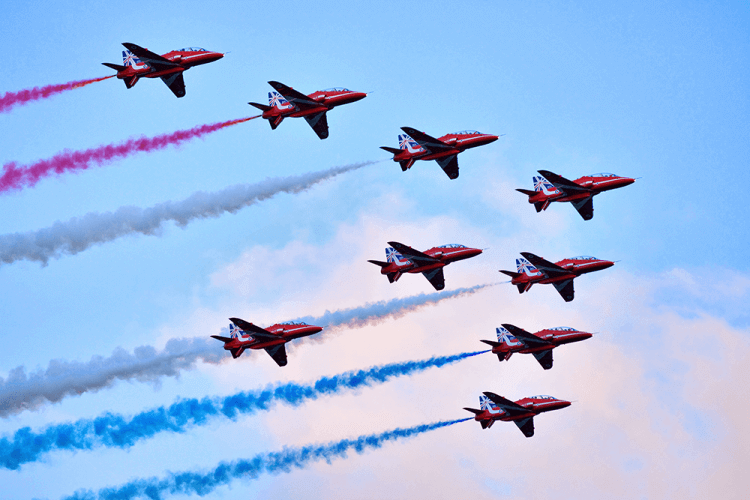 Red Arrows in the Cotswolds